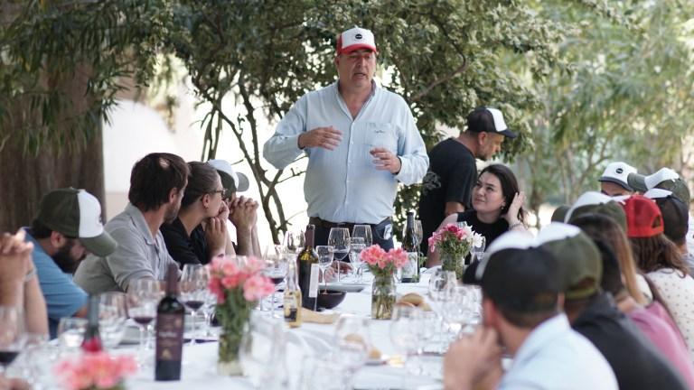 Almuerzo entre todos los asistentes, en Finca El Paraíso, perteneciente a Bodega Luigi Bosca